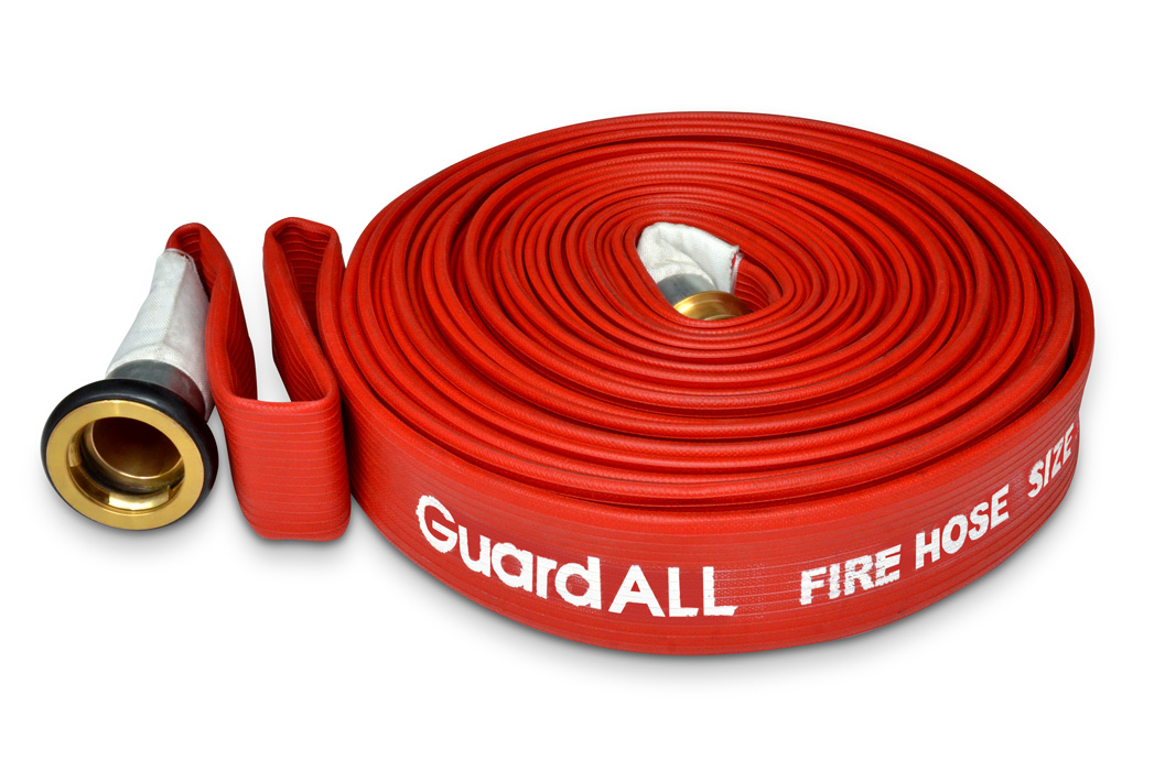 Fire Hydrant Hose Red Rubber GuardALL