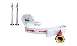komponen hydrant box berisi selang pemadam kebakaran dan nozzle fire hose