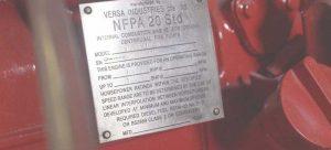Pompa VErsa NFPA